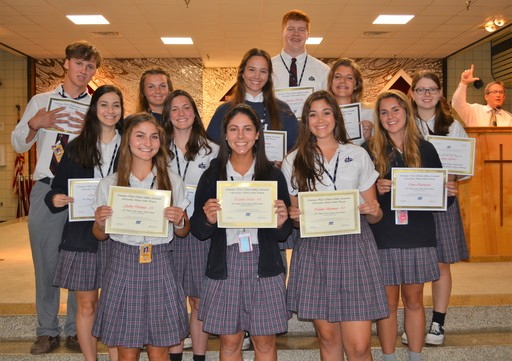 Seniors Receive LHSAA Academic All State Recognition